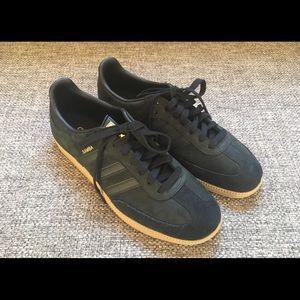 Men's Adidas Samba Size 9.5 Core Black w/ Gold
